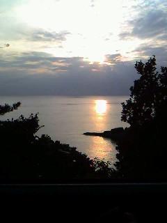 雲見の夕日!